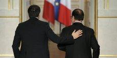François Hollande et Matteo Renzi (ici à l'Elysée, en novembre dernier) doivent signer un protocole d'accord sur le lancement des travaux.