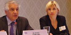 Ahmed Galal, ancien ministre égyptien des Finances, président du Femise*, et la Pr Patricia Augier, présidente du Comité scientifique.