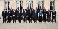 La photo de famille de la social-démocratie européenne prise ce samedi à Paris.