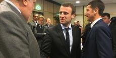 Emmanuel Macron s'est offert un bain de foule avec les entrepreneurs azuréens.