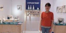 6 m2 de stand pour cette jeune potière d'Ollioules (Var) qui expose pour la première fois au salon Ob'Art de Montpellier