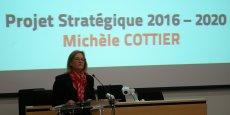 La présidente Michèle Cottier encourage le regroupement de laboratoires.
