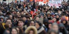 Entre 12 000 et 30 000 personnes se sont mobilisées à Lyon ce 31 mars 2016. (Photo d'illustration, prise le 9 mars)
