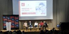 Les quatre intervenants lors du débat organisé au Musée de Grenoble.