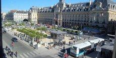 La ville de Rennes, capitale de la région Bretagne.