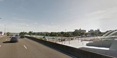 L'autoroute A7 traversait jusqu'à présent Lyon. Ici, au niveau du Musée des Confluences.