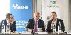 Alain Rousset, interviewé ce matin par Mikaël Lozano, rédacteur en chef de La Tribune à Bordeaux, et Jean-Philippe Déjean, journaliste à La Tribune à Bordeaux