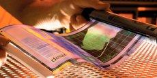 i2S s'intéresse aussi aux écrans en matériaux souples, à base de polymères.