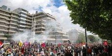 Manifestation devant le Medef ce jeudi 2 juin.