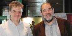 Rémi Roux et Xavier Chatellier, les présidents des URSCOP Midi-Pyrénées et Languedoc-Roussillon.