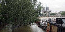 Samedi matin à 9h, la Seine atteignait 6,05 m selon le service de prévention Vigicrues, après un maximum de 6,10 m enregistré à 2h.