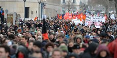 A Lyon, lors de la manifestation du 9 mars contre la loi travail.