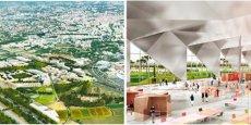 Les premiers visuels du projet urbain du quartier de La Mogère et de l'Hôtel du numérique, dessinés par l'architecte bruxellois Xaveer De Geyter.