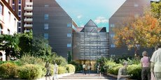 Vue d'architecte de la future résidence étudiante qu'abritera le Fidelio