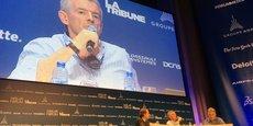 Le Pdg de Ryanair, Michael O'Leary, lors d'une table ronde du Paris Air Forum à la Maison de la Chimie, ce mardi 21 juin.