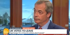 Le leader de Uk Independence Party sur le plateau d'ITV, vendredi 24 juin.