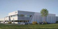 Le futur site industriel de DMS, en cours de construction à Gallargues