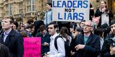 «Des leaders, pas des menteurs»: manifestation anti-Brexit à Londres (juin 2016).Ed Everett/Flickr,CC BY