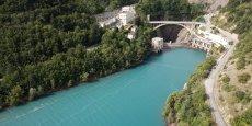 Le barrage du lac du Sautet, en Isère.