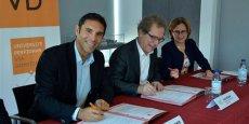 F. Lorente (UPVD), J. Roque (Plein Sud Entreprises) et H. Malherbe (Département des P.-O.)