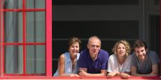 De gauche à droite, l'équipe de Short Edition : Isabelle Pleplé, Christophe Sibieude, Sylvie Tempesta et Quentin Pleplé.