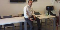 Le Biterrois Fabien Portes explique sa démarche à Montpellier, le 19 juillet