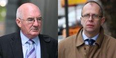 De gauche à droite, Willie McAteer et John Bowe, deux des banquiers condamnés.