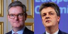 Un Britannique chasse-t-il l'autre? Non, en vérité, pour Jean-Claude Juncker, il s'agit d'assurer la continuité de la présence britannique au sein des institutions européennes malgré le succès du Brexit, qui consacre pour de bon la rupture avec l'Europe. Ainsi, Julian King (à gauche sur la photo) remplacerait Jonathan Hill (à droite), actuel commissaire européen à la sécurité.