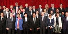 La photo de famille du gouvernement le 17 février 2016.