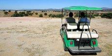 La pelouse complètement asséchée d'un golf en Espagne, photographiée en 2005.