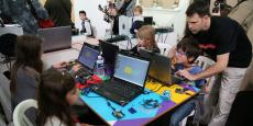 Initiation au code lors du FabLab Festival en mai dernier.