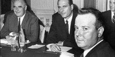 Georges Séguy (au premier plan) a dirigé la CGT de 1967 à 1982