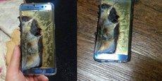 Sur le réseau social chinois Baidu, l'utilisateur 倪先生666666 (M. Ni 666666) a mis en ligne des photographies de son Samsung Galaxy Note 7 après qu'il a explosé. D'autres photos montrent qu'un câble USB d'un fournisseur tiers a été utilisé, ce qui pourrait être la cause de l'explosion.