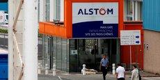 L'une des entrées du site d'Alstom à Belfort.