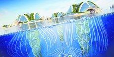Aequorea est un concept de ville conçue pour s'agrandir de façon naturelle grâce à la calcification, pourrait à terme se composer de 250 étages sous-marins allant jusqu'à 1.000 mètres de fond, et héberger jusqu'à 20.000 personnes.
