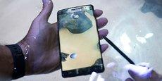 Samsung Note 7 défectueux.