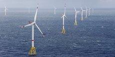 Des éoliennes offshore dans le parc d'Amrum Bank West en Allemagne.