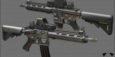 Heckler & Koch (HK) a gagné dans le cadre d'un appel d'offres européen la compétition haut la main face au belge FN Herstal, qui proposait le Scar, l'italien Beretta (ARX 160), le suisse Swiss Arms, ex-SIG Arms (MCX) et, enfin, le croate, HS Produkt (VHS-2)