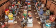 Une vingtaine de barriques peintes, issues de la collection de G. Bru (Château Puech Haut), seront exposées lors du MAO 2