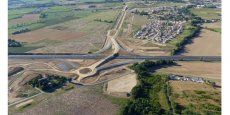 Prise de vue aérienne du chantier de la zone d'activités Les Portes du Tarn.