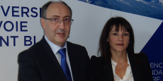 Denis Varaschin et Catherine Gaillard ont annoncé la création prochaine de la fondation de l'USMB.