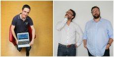 Jérémy Simonklein créateur de la startup Equivote, Lionel Bouzonville et Thomas Champion cofondateurs de Politizr