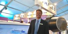 Jean-Noël Stock, directeur adjoint support et service client de Thales, lors du salon européen de la maintenance aéronautique militaire (ADS Show) de Mérignac