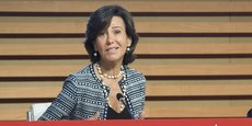 Ana Botin, la présidente exécutive de Banco Santander, à la journée investisseurs ce vendredi 30 septembre.
