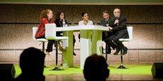 Aux côtés de Carlos Morenos (de droite à gauche) : Lluis Sanz Marco, Yael Weinstein, Hélène Roussel et Emmanuelle Pinault.