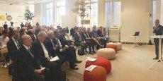 Mounir Abdel Nour, ancien ministre de l'Industrie et du Commerce de l'Égypte, durant son intervention dans le cadre des petits-déjeuners de la Méditerranée et de l'Afrique, coproduits en partenariat par l'Ipemed, Bpifrance international et La Tribune, à Paris, le 4 octobre 2016.