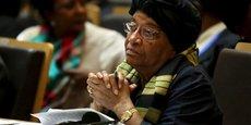 Ellen Johnson Sirleaf, présidente du Liberia depuis le 16 janvier 2006 et co-récipiendaire du prix Nobel de la paix en 2011.