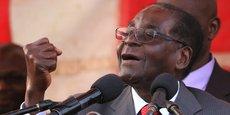 Robert Mugabe, Président de la République du Zimbabwé, lors d'un meeting le 24 septembre 2016.