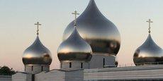 Multiplast a construit les dômes de la nouvelle église orthodoxe russe de Paris.