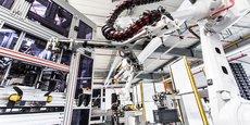 Un des robots de l'usine de Sagemcom dédié à la fabrication des compteurs Linky.